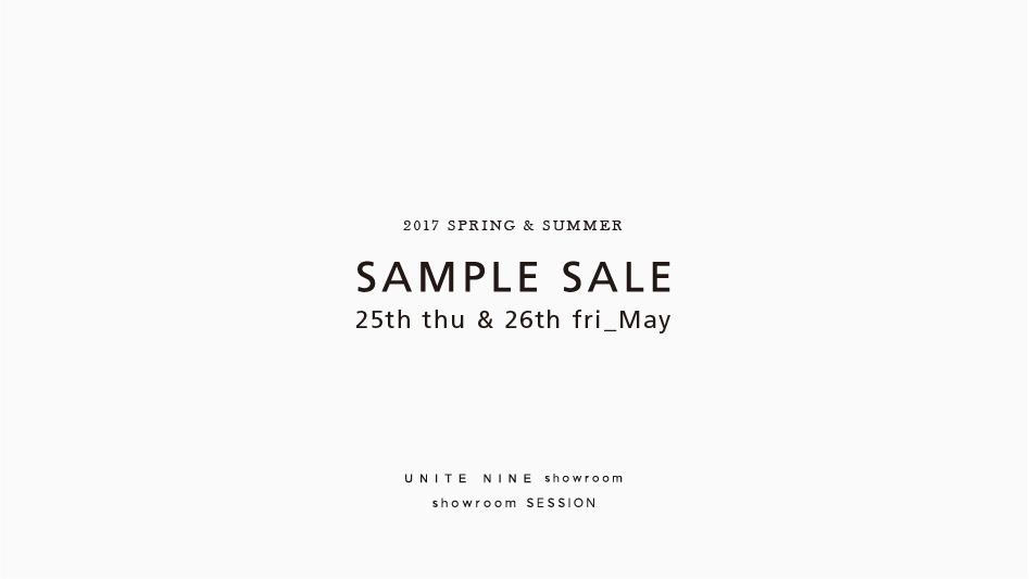 2017SS SAMPLE SALE